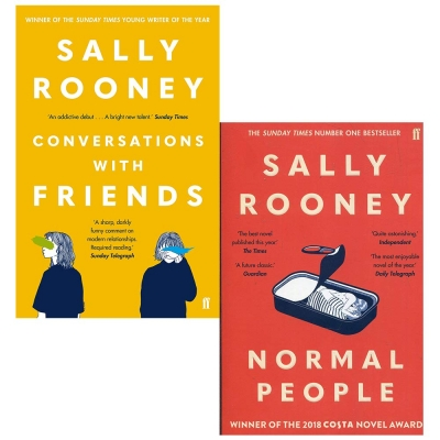 Sally Rooney 2 Books Collection Set - Conversations with Friends & Normal People by Sally Rooney