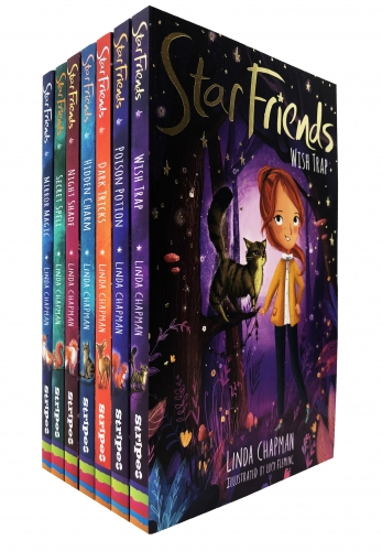 Linda Chapman Star Friends Series 7 Books Collection Set - Mirror Magic, Wish Trap, Poison Potion, Secret Spell, Dark Tricks, Night Shade and More by Linda Chapman (Author), Lucy Fleming (Illustrator)