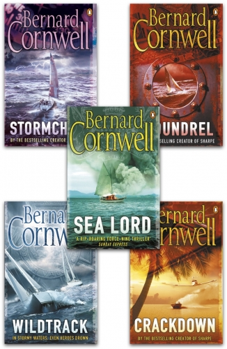 Bernard Cornwell Sailing Thrillers Collection 5 Books Set - Wildtrack, Scoundrel, Sea Lord, Crackdown, Stormchild by Bernard Cornwell