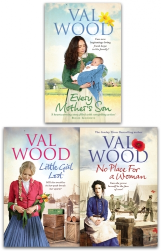 Val Wood Collection Family Sagas 3 Books Set - Every Mothers Son, No Place For a Woman, Little Girl Lost by Val Wood