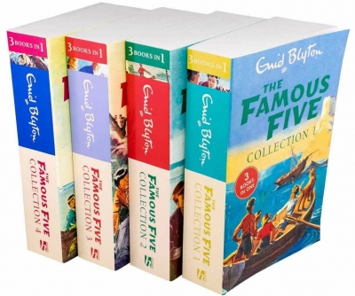 Enid Blyton The Famous Five 4 Book 12 Story Collection (3 Books in 1) by Enid Blyton