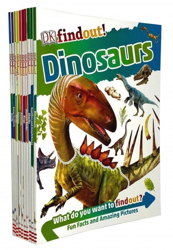 DK Findout Series with Fun Facts and Amazing Pictures 10 Books Collection Set by DK