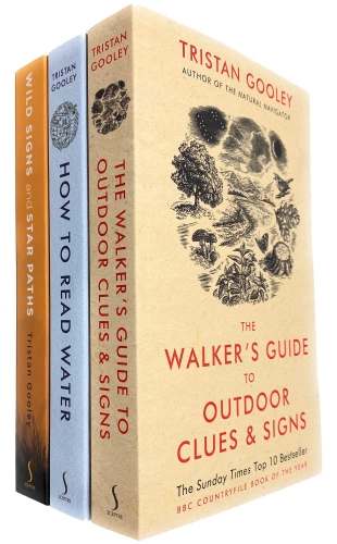 Tristan Gooley 3 Books Collection Set - The Walkers Guide to Outdoor Clues and Signs, How To Read Water, Wild Signs and Star Paths by Tristan Gooley