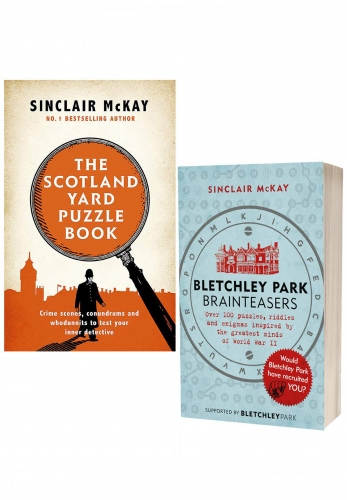 The Scotland Yard Puzzle Book & Bletchley Park Brainteasers By Sinclair McKay 2 Books Collection Set by Sinclair McKay