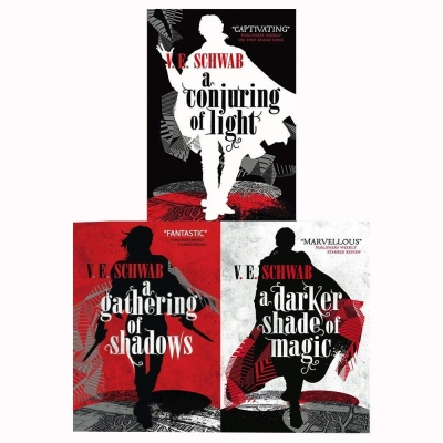 A Darker Shade of Magic 3 Books Collection Set A Darker Shade of Magic A Gathering of Shadows Vicious by V. E. Schwab
