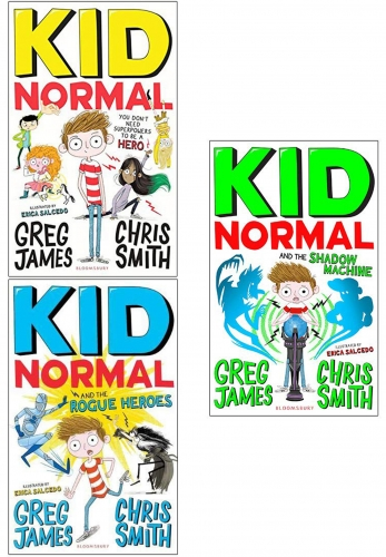 Greg James and Chris Smith Kid Normal Series 3 Books Collection Set - The Kid Normal, The Rogue Heroes, The Shadow Machine by Greg James and Chris Smith