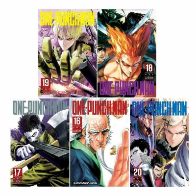 One-Punch Man Volume 16-20 Collection 5 Books Set - Series 4 by Yusuke ONE & Murata
