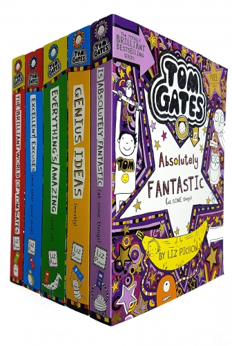 Tom Gates Series Collection 5 Books (The Brilliant World, Excellent Excuses, Everything's Amazing, Genius Ideas, Is Absolutely Fantastic) by Liz Pichon