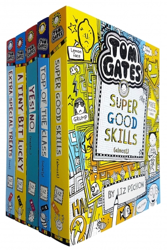 Tom Gates Collection 5 Books Pack by Liz Pichon Series 2 - Extra Special Treats, A Tiny Bit Lucky, Yes! No., Top Of The Class, Super Good Skills by Liz Pichon