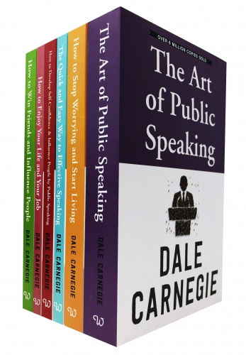 Dale Carnegie Personal Development 6 Books Collection Set by Dale Carnegie