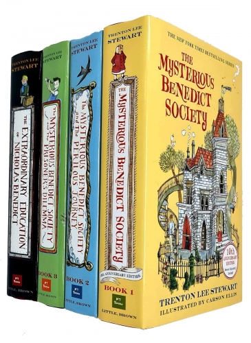 The Mysterious Benedict Society Series 4 Books Collection Set By Trenton Lee Stewart by Trenton Lee Stewart