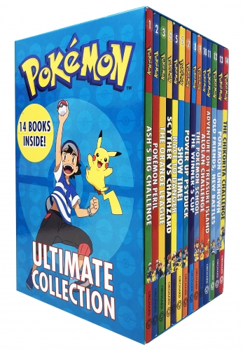 The Official Pokemon Ultimate Collection 14 Books Set - Ash Big Challenge, Pokemon Peril, Orange League, Scyther vs Charizard, Race to Danger & More by Pokemon