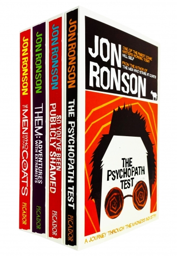 Jon Ronson 4 Books Bundle Collection Set - The Psychopath Test, So You've Been Publicly Shamed, Them, The Man Who Stare At by Jon Ronson