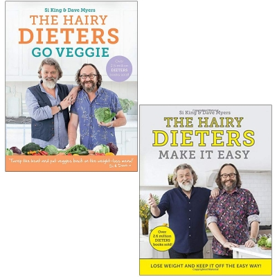 Hairy Bikers 2 Books Collection Set (The Hairy Dieters Go Veggie, The Hairy Dieters Make It Easy) by Hairy Bikers