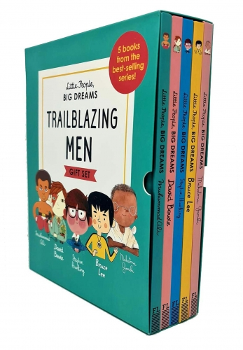 Little People, Big Dreams Trailblazing Men 5 Books Collection Box Gift Set (Muhammad Ali, David Bowie, Stephen Hawking, Bruce Lee & Mahatma Gandhi) by Maria Isabel Sanchez Vegara