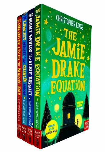 Christopher Edge 4 Books Collection Set - Jamie Drake Equation, Many Worlds of Albie Bright Bright, Longest Night of Charlie Noon and More by Christopher Edge