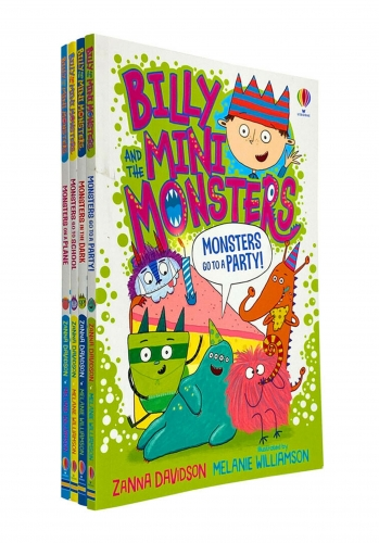 Billy and the Mini Monsters 4 Books Collection Set by Zanna Davidson - Monsters go to School, on a Plane, In the Dark, Go to a Party! by Zanna Davidson