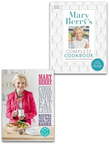 Mary Berry Cook Now, Eat Later and Complete Cookbook Collection 2 Books Set by Mary Berry