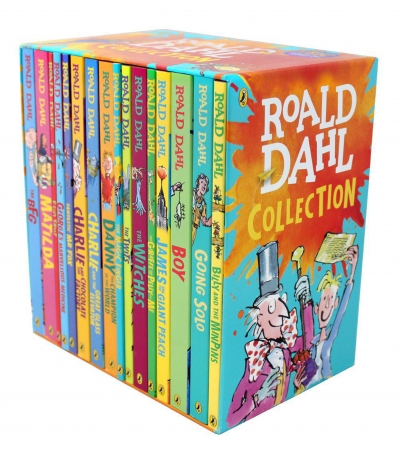 Roald Dahl Collection 16 Paperback Books Classic Kids Gift Box Stories by Roald Dahl