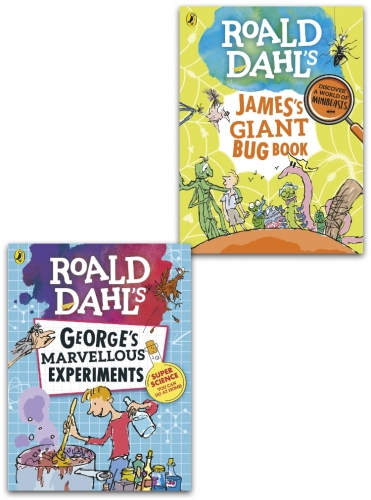 Roald Dahl Collection 2 Books Set - James Giant Bug Book and George Marvellous Experiments by Roald Dahl