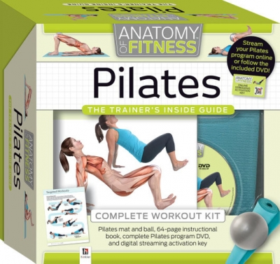 Anatomy of Fitness Pilates The Trainers Inside Guide Complete Workout Kit by Hinkler
