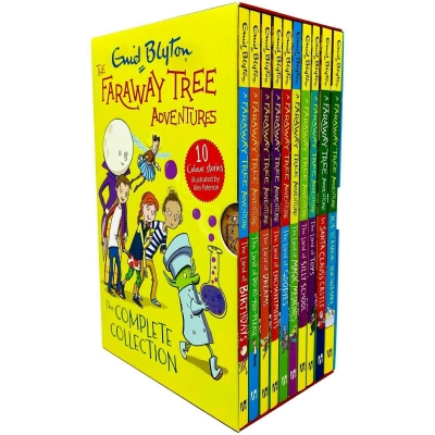 Enid Blyton The Faraway Tree Adventures Colour Stories Complete Collection 10 Books Box Set by Enid Blyton