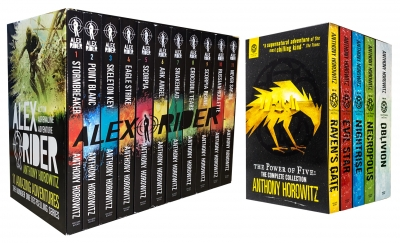 Anthony Horowitz 15 Books Collection Alex Rider and Power of Five Series Set Pack, Anthony Horowitz books by Anthony Horowitz