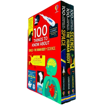 Usborne 100 Things to Know About 3 Books Collection Set - Space, The Human Body, Science by Usborne Publishing Ltd