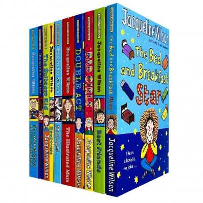 Jacqueline Wilson 10 Books Collection Set (Bed and Breakfast Star, BestFriends, Bad Girls, Double Act, Illustrated Mum, Midnight, Sleepovers & More) by Jacqueline Wilson