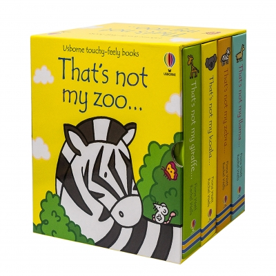 Usborne Touchy-Feely Books Thats Not My Zoo Collection 4 Books Set by Fiona Watt