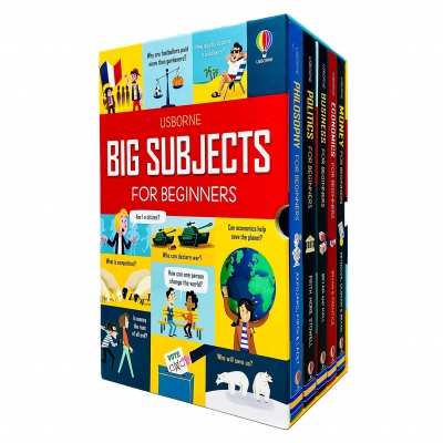 Usborne Big Subjects For Beginners 5 Books Collection Box Set (Money, Economics, Business, Politics, Philosophy) by Various