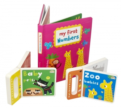 My First Numbers Collection Zoo Babies & Baby Pets Board Book Set by Stephen Barker