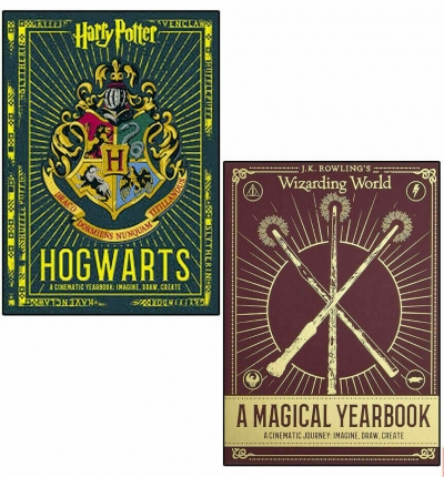 Harry Potter Hogwarts A Cinematic Yearbook and Wizarding World a Magical Yearbook 2 Books Collection Set by Harry Potter