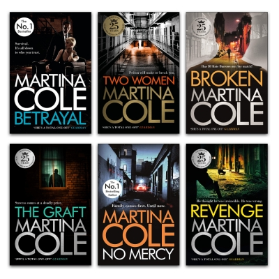 Martina Cole Collection 6 Books Set - Broken, Revenge, Two Women, Betrayal, No Mercy, The Graft by Martina Cole
