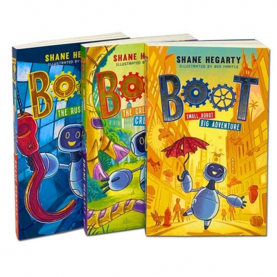 Boot Series 3 Books Set Collection by Shane Hegarty (Small Robot-Big Adventure, The Rusty Rescue, The Creaky Creatures) by Shane Hegarty