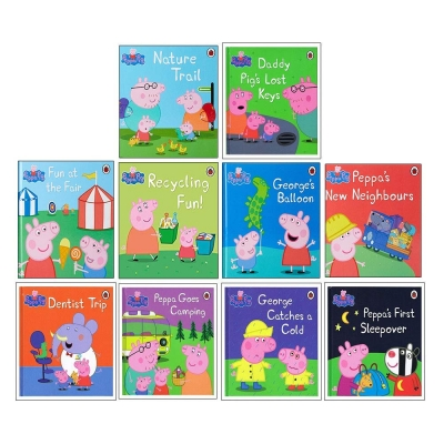 Peppa Pig Ladybird 10 Books Collection Set (Dentist Trip, Fun at the Fair, Georges Balloon, Nature Trail, Goes Camping and More) by Ladybird