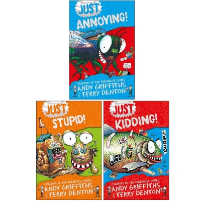 Just Series 3 Books Set By Andy Griffiths (Just Kidding, Just Stupid, Just Annoying) by Andy Griffiths, Terry Denton