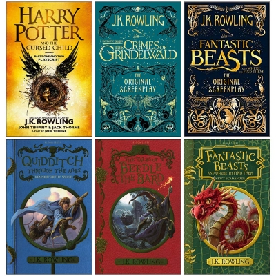 J.K. Rowling Collection 6 Books Set (Harry Potter and the Cursed Child Parts One and Two, Fantastic Beasts The Crimes of Grindelwald and More!) by J.K. Rowling