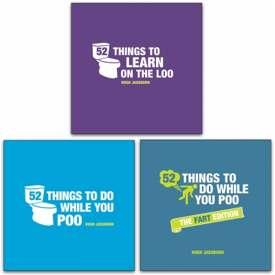 Hugh Jassburn 52 Things To Do Series 3 Books Collection Set (Learn on the Poo, While You Poo, While You Poo The Fart Edition) by Hugh Jassburn