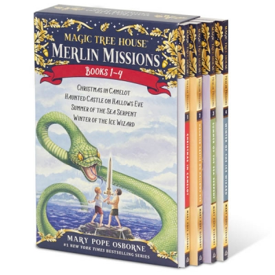 Magic Tree House Merlin Missions Series Collection 4 Books Box Set (Books 1 - 4) by Mary Pope Osborne  (Author), Sal Murdocca (Illustrator)