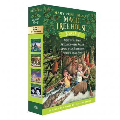 Magic Tree House Series Collection 4 Books Box Set (Books 5 - 8) by Mary Pope Osborne