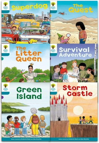 Oxford Reading Tree Read With Biff Chip Kipper Stories Collection 6 Books Set Level 9 by Roderick Hunt