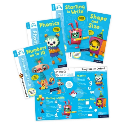 Progress with Oxford Starting to Write Shape and Size Phonics 4 Books Pack Ages 3-4 (Preschool) by Various