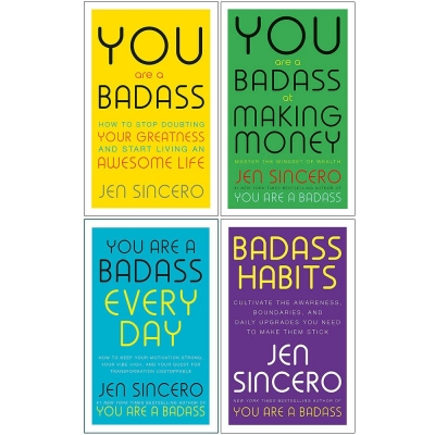 Jen Sincero Collection 4 Books Set (You Are A Badass, At Making Money, Every Day, Badass Habits) by Jen Sincero