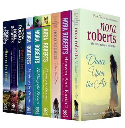 Nora Roberts Collection 9 Books Set (Dance Upon The Air, Heaven and Earth, Face The Fire, Daring To Dream, Holding The Dream, Finding The Dream, Born by Nora Roberts