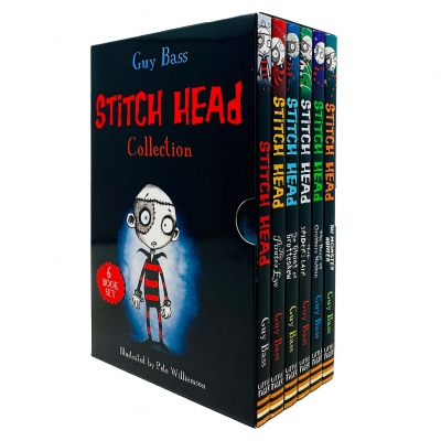 Stitch Head Series 6 Books Collection Box Set by Guy Bass (Stitch Head, Pirate's Eye, Ghost of Grotteskew, Spider's Lair) by Guy Bass