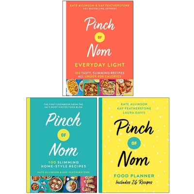 Pinch of Nom Collection 3 Books Set (Everyday Light, Pinch of Nom, Pinch of Nom Food Planner) by Various