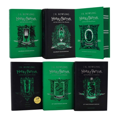 Harry Potter Slytherin House Edition 6 Books Set Collection By J.K. Rowling by J.K Rowling