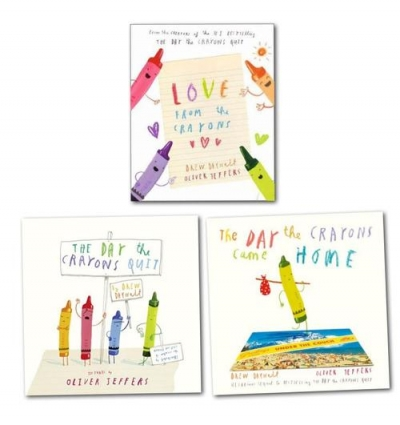 The Crayons Collection 3 Book Set By Drew Daywalt & Oliver Jeffers by Drew Daywalt, Oliver Jeffers