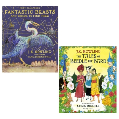 Fantastic Beasts and Where to Find Them ande Tales of Bee Thdle the Bard by J.K. Rowling 2 Books Collection Set by J.K. Rowling